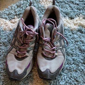 Gently worn sneakers